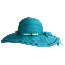 Caribbean Joe Swinger Hat - Crushable (For Women) in Turquoise - Closeouts