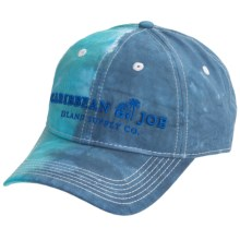 Caribbean Joe Tie-Dye Baseball Cap - Cotton Twill (For Men and Women) in Turquoise/Blue - Closeouts