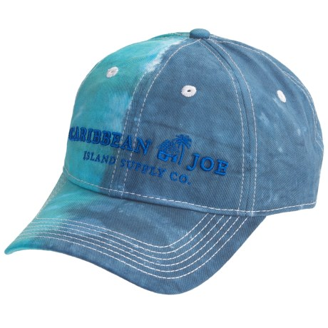 Caribbean Joe Tie-Dye Baseball Cap - Cotton Twill (For Men and Women) in Turquoise/Blue