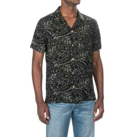 Caribbean Joe Tiki Lattice Shirt - Short Sleeve (For Men) in Black - Closeouts