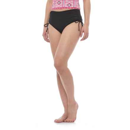 Caribbean Joe Tummy Control Side Tie Bikini Bottoms (For Women) in Black - Closeouts