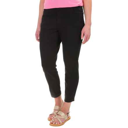 Caribbean Joe Twill Ankle Pants (For Women) in Black - Closeouts