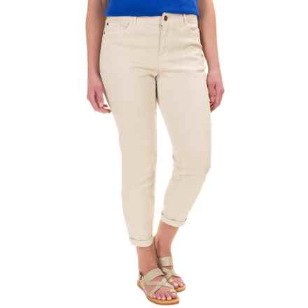 Caribbean Joe Twill Ankle Pants (For Women) in Sand - Closeouts