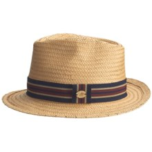 Caribbean Joe Weave Fedora Hat (For Men and Women) in Tobacco - Closeouts