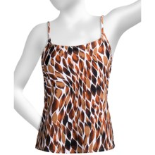 Caribbean Sand Classic Tankini Swimsuit Top - Spaghetti Straps (For Women) in Flame Brown - Closeouts