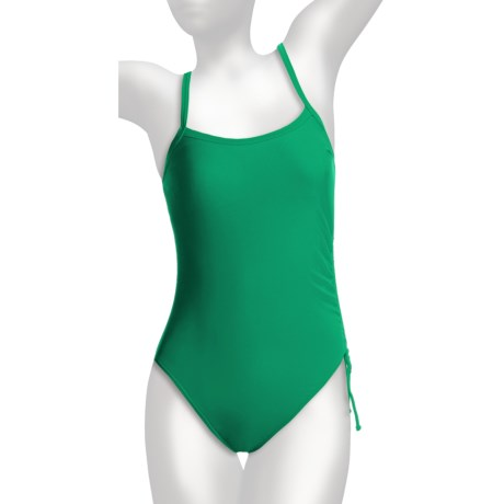 Caribbean Sand Lingerie Tank One-Piece Swimsuit (For Women) in Emerald