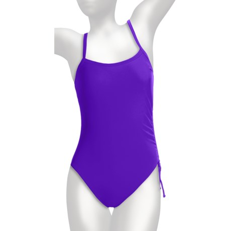 Caribbean Sand Lingerie Tank One-Piece Swimsuit (For Women) in Violet