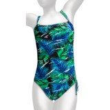 Caribbean Sand One-Piece Swimsuit - Side Drawstring (For Women)