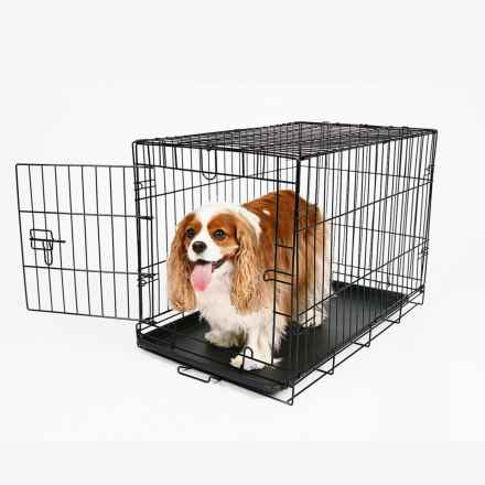 carlson pet products dog crate medium in black closeouts - Carlson Pet Products