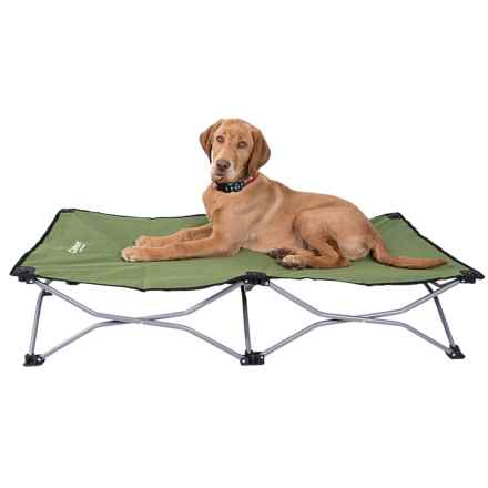carlson pet products portable pup pet bed large 47x24u201d in green closeouts - Carlson Pet Products