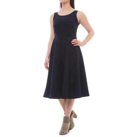Carmen Marc Valvo Scoop Neck Dress - Sleeveless (For Women) in Nightlife - Closeouts