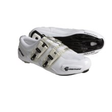 Carnac Attraction Carbon Sole Road Cycling Shoes - 3-Hole (For Men and Women) in White - Closeouts