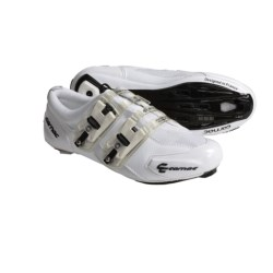 Carnac Attraction Carbon Sole Road Cycling Shoes - 3-Hole (For Men and Women) in White