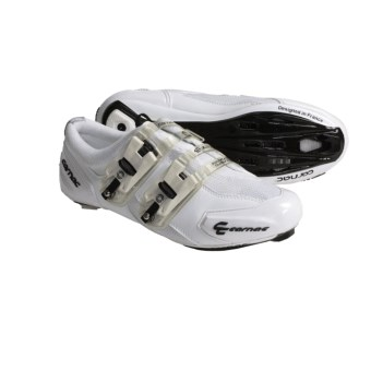 Carnac Attraction Carbon Sole Road Cycling Shoes (For Men and Women) in White