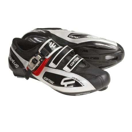 Carnac Notus Road Cycling Shoes - 3-Hole (For Men and Women) in White/Silver