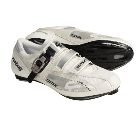 Carnac Notus Road Cycling Shoes - 3-Hole (For Men and Women) in Black/Silver