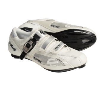 Carnac Notus Road Cycling Shoes (For Men) in White/Silver
