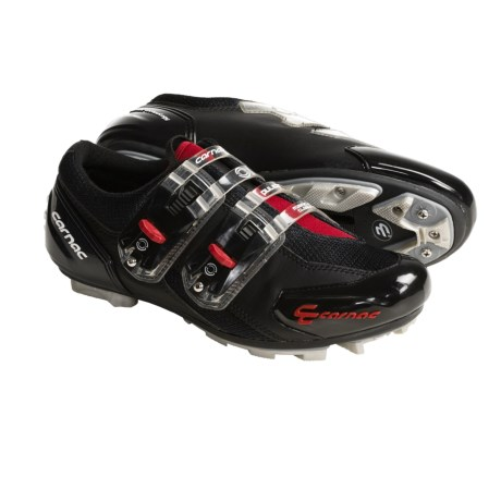 Carnac Pulsar Duo Sole MTB Cycling Shoes - SPD (For Men and Women) in Black/Red