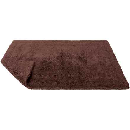 "Caro Home Ring-Spun Microcotton Reversible Bath Rug - Small, 18x25"" in Chocolate - Closeouts"
