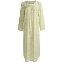 Carole Hochman Antique Flowers Nightgown - Cotton, Long Sleeve (For Women) in Antique Flowers Green - Closeouts