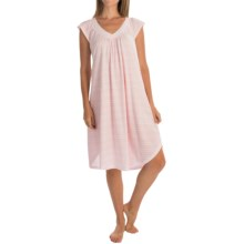 Carole Hochman Ballet Nightgown - Short Sleeve (For Women) in Pink Stripe - Overstock
