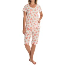 Carole Hochman Bermuda Pajamas - Short Sleeve (For Women) in Fruits - Overstock