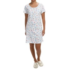 Carole Hochman Blissful Escape Nightshirt - Short Sleeve (For Women) in Sweet Confections - Closeouts