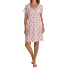 Carole Hochman Bouquet Sleep Shirt - Short Sleeve (For Women) in Meadow Wallpaper Pink - Overstock
