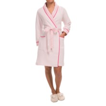 Carole Hochman Damask Garden Robe - Long Sleeve (For Women) in Ivory Pink - Closeouts