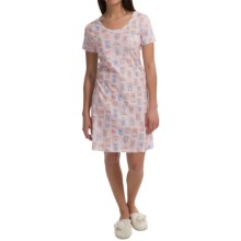 Carole Hochman Everyday Beauty Nightshirt - Short Sleeve (For Women) in Clocks - Closeouts