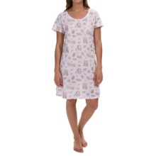 Carole Hochman Everyday Treasures Jersey Sleep Shirt - Short Sleeve (For Women) in Forbidden Garden - Overstock