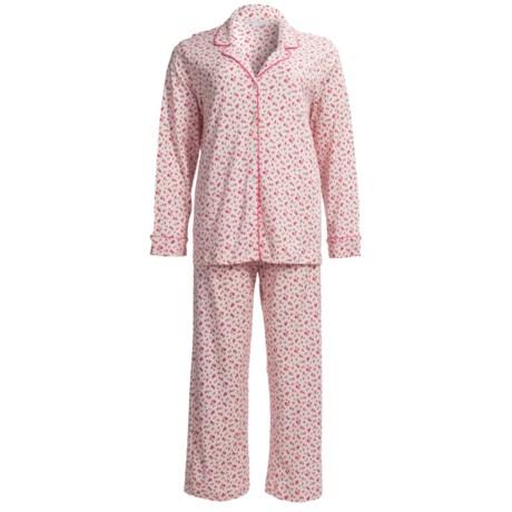 Carole Hochman Falling Floral Pajamas - Long Sleeve (For Plus Size Women)