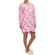 Carole Hochman Floral Print Nightgown - Long Sleeve (For Women) in Full Bloom - Closeouts