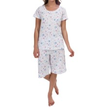 Carole Hochman Garden Medley Pajamas - Bermuda Shorts, Short Sleeve (For Women) in Wildflower - Overstock