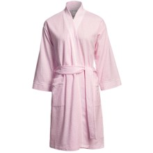 Carole Hochman Heart Confetti Kimono Robe - Short (For Women) in Heart Confetti Twinle Pink - Closeouts