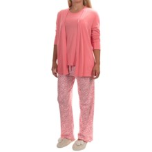 Carole Hochman Heavenly Soft Pajamas - Cotton Jersey, Short Sleeve (For Women) in Sugar Coral/Whimsical Engraving - Overstock
