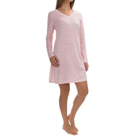 Carole Hochman Jersey-Knit Nightgown - Long Sleeve (For Women) in Cats Meow - Overstock