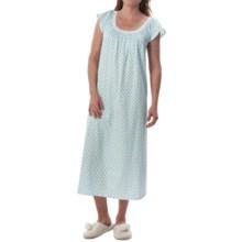 Carole Hochman Jersey Knit Nightgown - Short Sleeve (For Women) in Green Dots - Closeouts