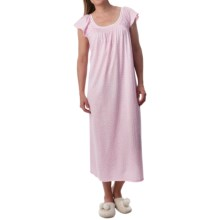 Carole Hochman Jersey Knit Nightgown - Short Sleeve (For Women) in Pink Hearts - Closeouts