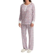 Carole Hochman Jersey Pajamas - Long Sleeve (For Women) in Wild Blossom - Closeouts