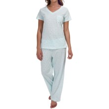 Carole Hochman Jersey Pajamas - Short Sleeve (For Women) in Lacey - Overstock