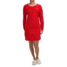 Carole Hochman Joy to the World Pajama Shirt - Long Sleeve (For Women) in Floating Stars - Closeouts