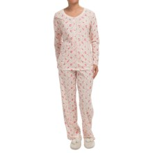 Carole Hochman Joy to the World Pajamas - Long Sleeve (For Women) in Musical Garden - Closeouts