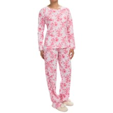 Carole Hochman Knit Pocket Pajamas - Long Sleeve (For Women) in Full Bloom - Closeouts