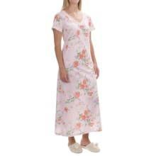 Carole Hochman Lace Trim Nightgown - Short Sleeve (For Women) in Meadow - Overstock