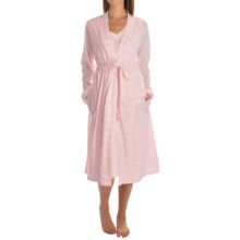 Carole Hochman Lady Gown and Robe Set (For Women) in Pink Stripe - Overstock