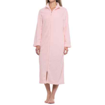Carole Hochman Long-Zip Robe - Long Sleeve (For Women) in Pink - Closeouts