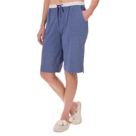 Carole Hochman Lounge Bermuda Shorts - Stretch Cotton-Modal (For Women) in Heather Blue - Closeouts