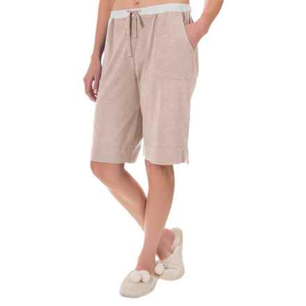 Carole Hochman Lounge Bermuda Shorts - Stretch Cotton-Modal (For Women) in Mocha - Closeouts