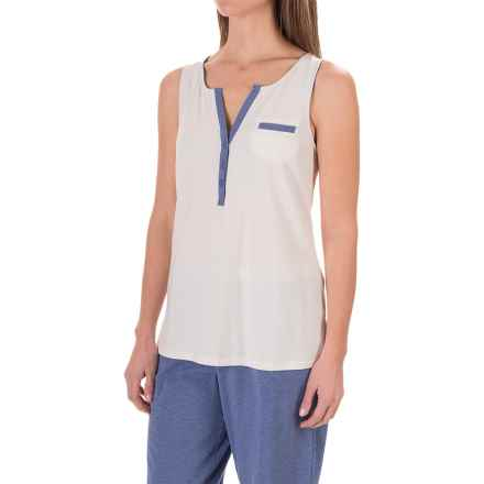 Carole Hochman Lounge Tank Top (For Women) in Blue Heather - Closeouts